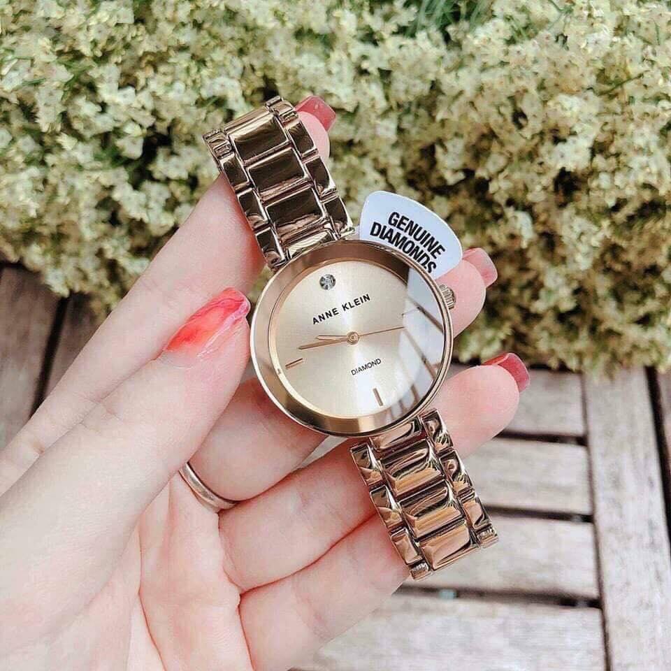 Đồng hồ nữ Anne Klein AK/1362CHGB màu vàng Gold 32mm 1