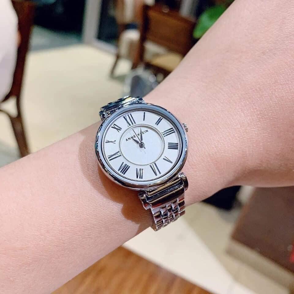 Đồng hồ nữ Anne Klein AK/2159SVSV Silver-Tone Bracelet 30mm 3
