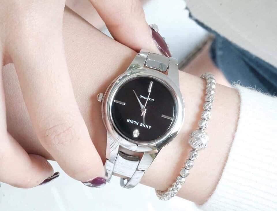 Đồng hồ nữ Anne Klein AK/2629BKSV dây kim loại case 32mm 1