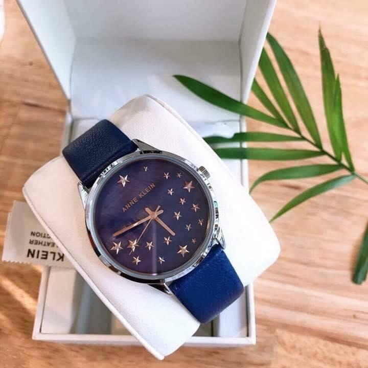 Đồng hồ nữ AK/3247RTDB Anne Klein dây da xanh blue 35mm 3