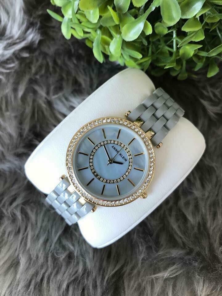 Đồng hồ nữ Anne Klein Ak/2620GYGB dây ceramic mầu ghi 34mm 2