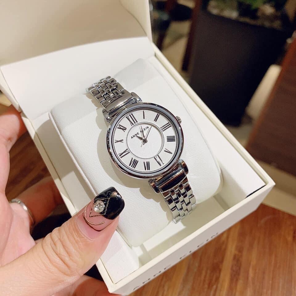 Đồng hồ nữ Anne Klein AK/2159SVSV Silver-Tone Bracelet 30mm 1